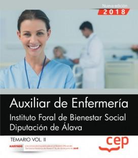 AUXILIAR DE ENFERMERIA INSTITUTO FORAL ALAVA TEMARIO VOL II