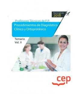 OPOSICIONES EDUCACION PROFESORES TECNICOS FP PROCECIMIENTOS TEMARIO II