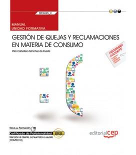 MANUAL GESTION DE QUEJAS Y RECLAMACIONES EN MATERIA DE CONSUMO