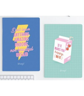 LIBRETAS A4 DON T LEAVE ANYTHING AMAZING UNDONE (SET 2 UDS)