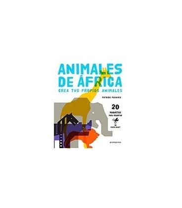 ANIMALES DE AFRICA CREA TUS PROPIOS ANIMALES 20 MAQUETAS PARA RECORTA
