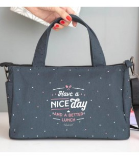 BOLSA PORTA ALIMENTOS HAVE A NICE DAY AND A BETTER LUNCH (ENG)