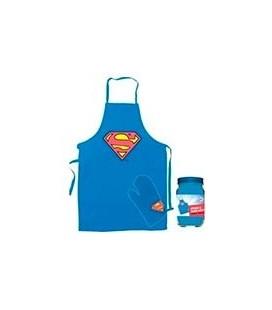 DELANTAL Y MANOPLA SUPERMAN