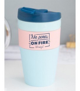 TAZA TAKE AWAY PLEGABLE ME PONES ON FIRE