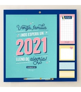 CALENDARIO FAMILIAR NOS ESPERA UN 2021 LLENO DE ALEGRIA!