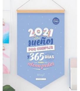 CALENDARIO DE PARED 2021 SUEÑOS POR CUMPLIR