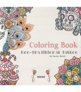 COLORING BOOK NEO TRADITION TATTOO