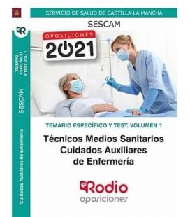 CUIDADOS AUXILIARES DE ENFERMERIA SESCAM TEMARIO ESPECIFICO Y TEST VOL