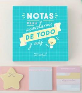 BLOC DE NOTAS Y NOTAS ADHESIVAS PARA ACORDARME DE TODO Y MAS