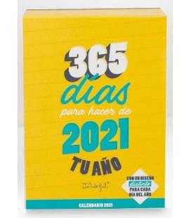 CALENDARIO DE SOBREMESA DIA POR PAGINA HACER DE 2021 TU AÑO (UU)