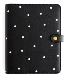 PLANNER PERSONAL CHARUCA A5 NEGRO TOPOS 2022