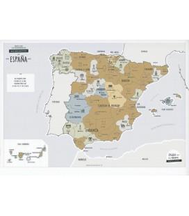 MAPA RASCABLE DE ESPAÑA CON MONUMENTOS EMBLEMATICOS