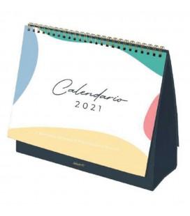 CALENDARIO Y PLANIFICADOR MESA ABSTRACT 2021