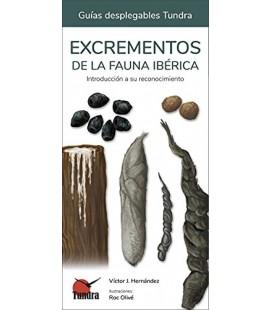 GUIAS DESPLEGABLES TUNDRA EXCREMENTOS DE LA FAUNA IBERICA